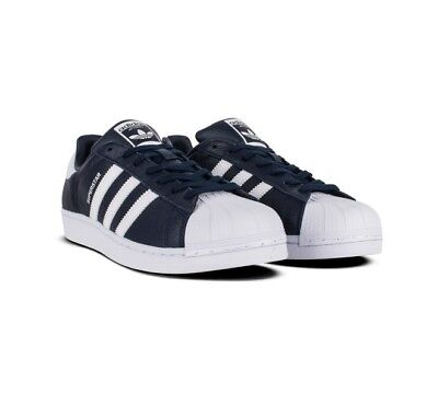 NEW ADIDAS ORIGINALS SUPERSTAR FOUNDATION SHOES BB2239 MEN'S BLUE SNEAKERS 9 !!