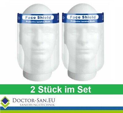 2 x Gesichtsvisier Spuckschutz Niesschutz Gesichtsschutz Mundschutz Faceshield