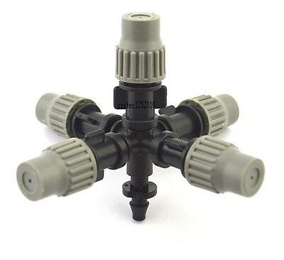 20pcs Garden humidifie Irrigation Micro Misting Sprinkler Head for 1/4 hose