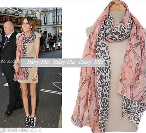 Celebrity-Hollywood-Star-Women-Leopard-Pink-Soft-Scarf-shawl-Wrap