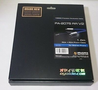 New Oyaide RCA Phono Cable PA-2075 RR V2 1.0 PA2075RRV2 Free Shipping from JAPAN