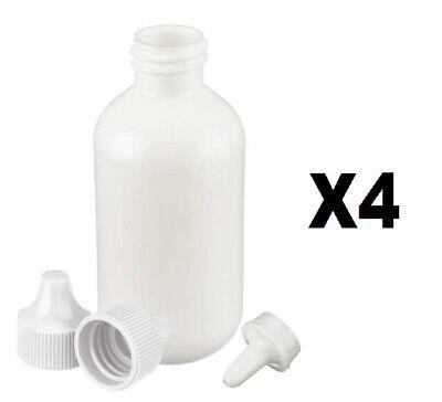 Polyethylene Dropper Bottles Leak Proof Plastic Dispenser Bottle 60mlpack Of 4