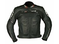 #RST #RIFT BLACK #LEATHER #MOTORCYCLE JACKET - GOOD CONDITION - SIZE 46 (XL) - £75