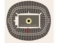 2 level one Adele tickets Wembley stadium Sunday 2nd July 2017