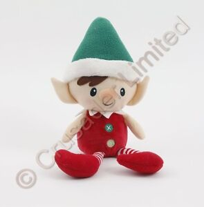 GUND-Christmas-Peppermint-Elf-Doll-Green-Hat-NEW-Ref-15926