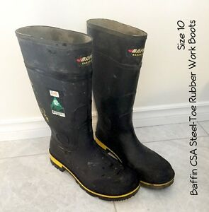 Steel toe CSA rubber work boots size 10 and 11