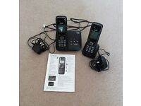 Landline phone with answering machine