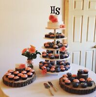 Simple Buttercream Wedding Cakes and Cupcakes