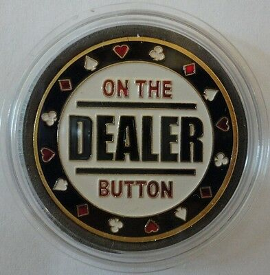 - DEALER BUTTON gold color Poker Card Guard Protector