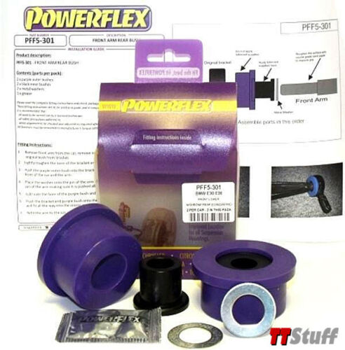 Powerflex PFF5-301 Front Lower Control Arm Rear Bushings BMW E36 E30 Z1 Z3