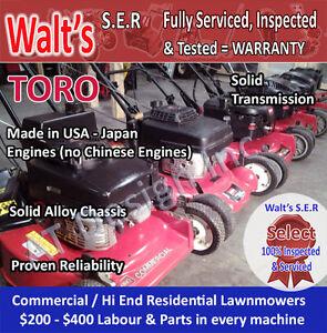 HEAVY DUTY TORO non box store Lawnmowers Selection -WARRANTY