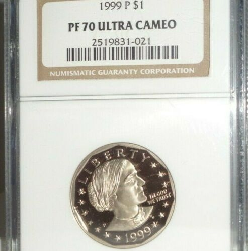 1999 P $1 Proof Susan B. Anthony Uncirculated Dollar Coin NGC PF 70 Ultra Cameo