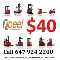 Forklift Training & license from $40 and GET JOB  - LIMITED TIME