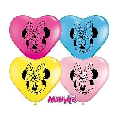 8 x Minnie Maus 15.2cm klein Herz Latex Ballons Gesichter (Party / Geburtstag )( ()