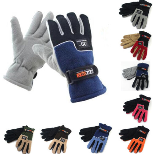 Winter Thermal Warm Fleece Lined Gloves for Snowboad Bike Cycling Bicycle Riding