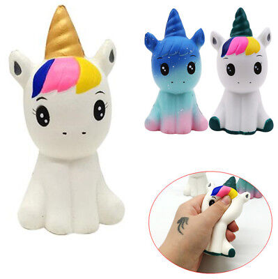 Jumbo Cute Unicorn Squishy Squeeze Relieve Stress Slow Rising Kid Toy Decor - Squeeze Toys