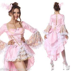 Lujo-Mujer-Sexy-Rosa-MARIE-ANTOINETTE-Barroco-Disfraz