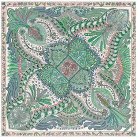 Hermes Scarf Le Jardin de la Maharani Designed by Annie Faivre