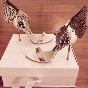 Brand New Beautiful Gold Butterfly / Angel Heels! (Size 37)