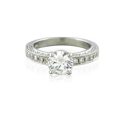 GIA Certified Bvlgari Platinum 1.00ct F VS1 Diamond Engagement Ring