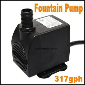 317 gph submersible pump fountain pond waterfall for Best rated pond pumps