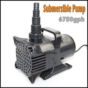 6750gph submersible pond waterfall fountain pump 33ft cord for Best rated pond pumps