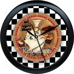 Personalized French Chef  Kitchen Wall Clock Gift