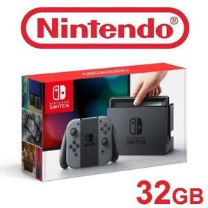 Nintendo Switch Console Gray & Neon Blue and Neon Red Joy-Con