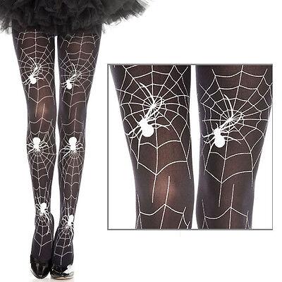 Women Full Black/White Spiderweb Pantyhose Spider Web Tights Halloween Costume](Spiderweb Tights)