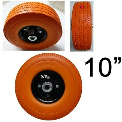 Heavy Duty Never-flat 10 X 58 Axle X 3 Wide Hand Truck Dolly Tire