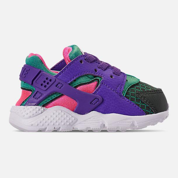 New Nike Baby Nike Huarache Run Toddlers Shoes (BQ7098-300)  Outdoor Green/Grape