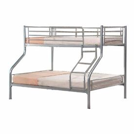❤100% BEST PRICE❤ BRAND NEW ALEXA TRIPLE/TRIO SLEEPER METAL BUNK WITH MATTRESSES *SAME DAY DELIVERY*