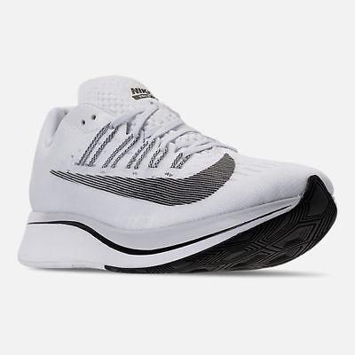 c335b6e9ee61 Men s Nike Zoom Fly Running Shoes White   Black   Platinum Sz 10.5 880848  100 Ebay.com