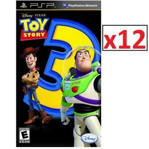 NEW 12 PSP TOY STORY 3 THE GAME 225541035 DISNEY PIXAR PLAYSTATION PORTABLE VIDEO GAME 1 CASE OF 12 GAMES TOTAL