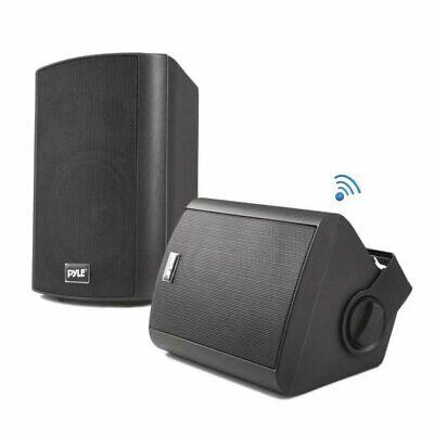"Pyle Home 6.5"" Indoor/Outdoor Wall-Mount Bluetooth Speakers - Black - PDWR62BTBK"