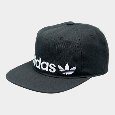 Adidas Originals Men's Banner Hat Black White Relaxed Adjustable Strapback Cap