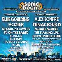 2 Sonic Boom General Admission Tickets Sept 5, 6
