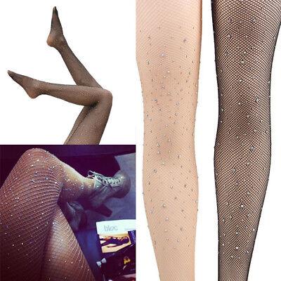 - Rhinestone Crystal Studs Diamond Net Fishnet Costume Tights Pantyhose Stockings