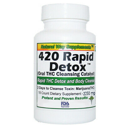 THC Detox - 420 Rapid Detox Supports Removal of THC Toxins in 2 Days (48 Hours)