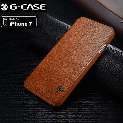Genuine G-Case For Apple iPhone 7 Plus  Slim Leather Flip Wallet Card Case Cover ()