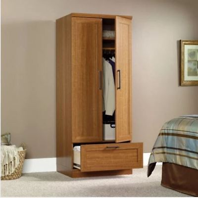 Wardrobe Cabinet Closet for Kids Tall Small Armoire Clothes Storage Organizer