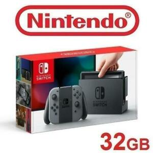RFB NINTENDO SWITCH GAME CONSOLE HACSKAAAA 232868351 GREY AND BLACK JOY CON 32 GB VIDEO GAME SYSTEM REFURBISHED