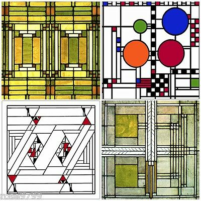 Frank Lloyd Wright Coasters - Frank Lloyd Wright Designs for Glass Coasters Set of 4 - WUAS305