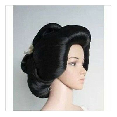 New Black Geisha Wig Full Wigs Plate Hair Anime Wig Cosplay Wig Fashion Cos - Geisha Wigs