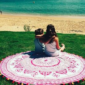 Elite rang of beautiful round beach towel by Handicrunch