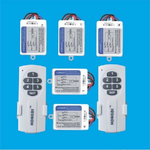 5CH TWO-Way Wireless Remote Control Power Supply Control Electric lighting 220V