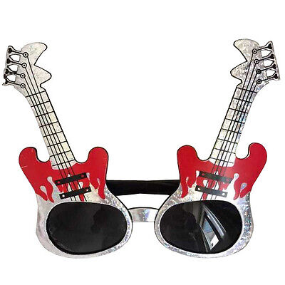 Electric guitar shaped glasses,fun party glasses,novelty glasses,funny - Glasses Fun