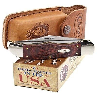 Case XX Hunter Pocket Knife Surgical Steel Blade Staminawood Delrin Handle (Case Pocket Hunter Knife)