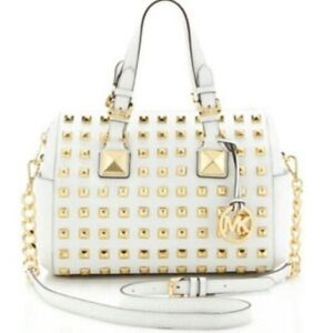 Michael Kors White and Gold Purse