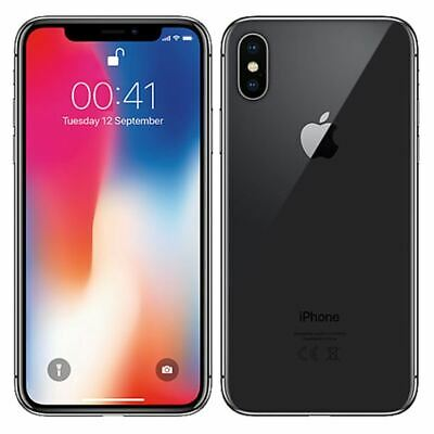 Apple iPhone X 64GB Space Gray (AT&T) Smartphone A + 1-Year Warranty